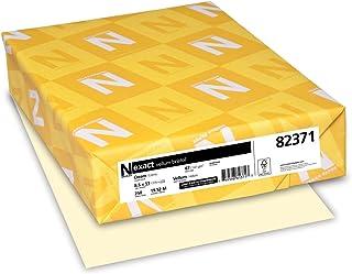 "Exact Vellum Bristol, 8.5"" x 11"", 67 lb/147 GSM, Cream, 250 Sheets (82371)"