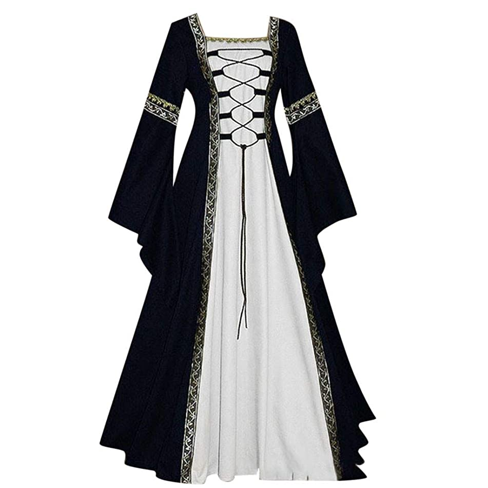 ? Hypothesis_X ? Women's Cosplay Dress Renaissance Medieval Irish Costume Over Dress Gothic Cosplay Dress S-5XL