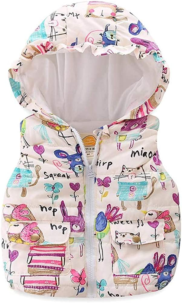 Mud Kingdom Financial sales sale Cute Little Girls Outerwear Animal Hood with 2021 Vests
