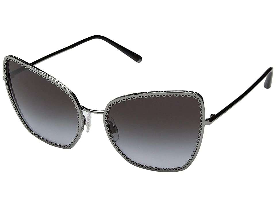 Dolce & Gabbana 0DG2212 (Gunmetal/Grey Gradient) Fashion Sunglasses