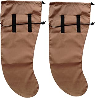Anti Leech Hiking Socks Free Size Protection for Trekking (Brown)