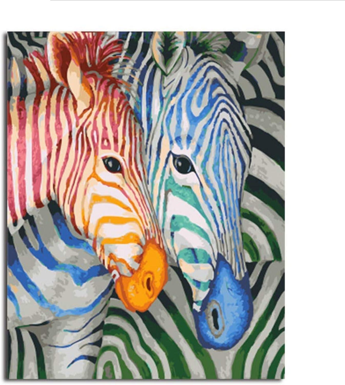 Waofe  Bild Moderne Gerahmte Bilder Diy Malen Nach Zahlen Diy Ölgemälde Auf Leinwand Home Decor Of Horse B07PS4R75H | München Online Shop