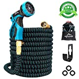Gpeng Garden Hose Expandable Water Hose, Leakproof Lightweight Retractable Collapsible Hose with 9