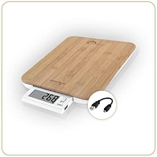 LITTLE BALANCE 8231 Soft 10 Bambou - Balance de cuisine sans piles - Rechargement USB - 10 kg / 1 g