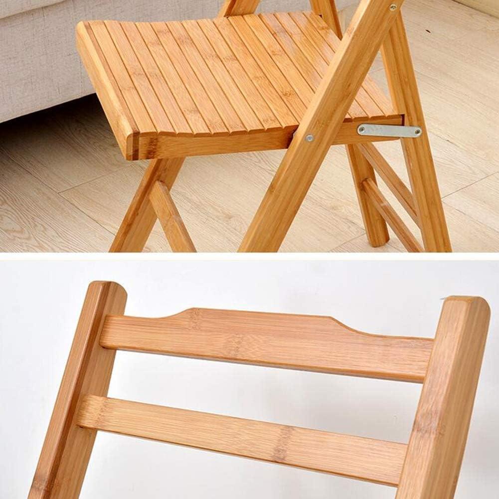 WYYY chaises Chaise De Dossier Pliable Bambou Chaise De Salle À Manger Portable Simple Chaise De Loisirs Économiser De L'espace 2 Tailles Durable fort (Color : 80cm) 80cm