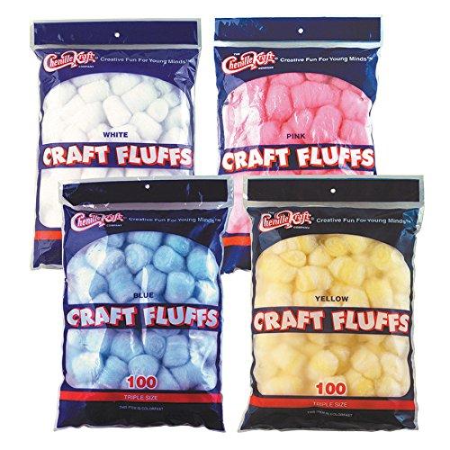 Becker's School Supplies Craft Fluffs Complete Set, (Set of 4)