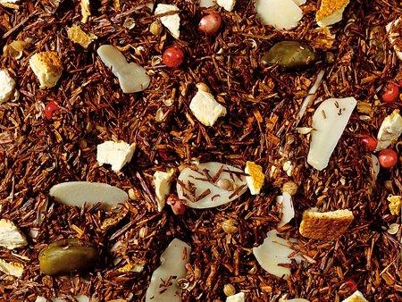 1kg - Tee - aromatisierter Rooibos (Rotbuschtee) - PFEFFERNUSS & ORANGE