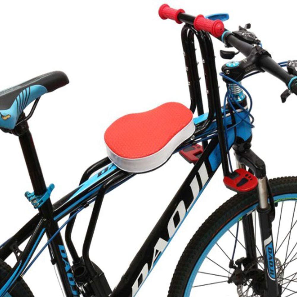 YAOBAO Asiento Delantero De Bicicleta para Niños para Niños Pequeños Portabicicletas Seguro Y Conveniente, Asiento De Bebé con Barandilla, Bicicletas, Niños De 1 A 4 Años,Red: Amazon.es: Deportes y aire libre