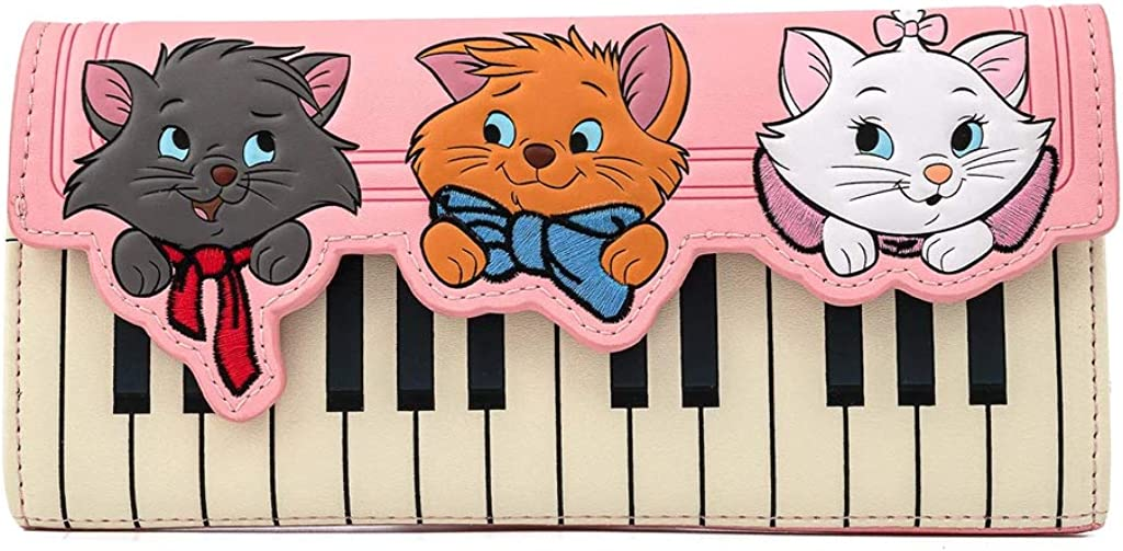 Loungefly Disney Aristocats Piano Kitties Faux Leather Wallet