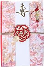 巾着袋に変わるご祝儀袋 結婚御祝用 ポリエステル (花壇(ピンク))