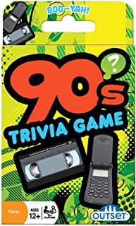 90s Trivia Card Game - Decade Trivia Card Game for 2 or More Players - Ages 12 and Up