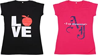 IndiWeaves Women Cotton Printed T-Shirts(Pack of 2)