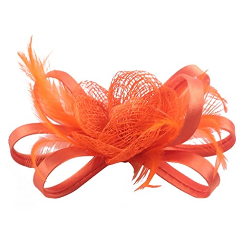 Fascigirl Pillbox Hat Feather Flower Headpiece Wedding Fascinator Corsage  Brooch Pin Hair Clip for Ladies Day 0e8f956338a