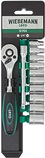 """Hylsnyckelsats, 12 delar med 1/4""""-spärrskaft, 4–13 mm sexkantshylsor och förlängning 100 mm av kromvanadinstål med hållare..."""