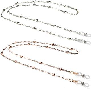 زنجیر عینک مخصوص زنانه ، بند ناف گردنبند عینک مهره ای مجهز به بلوز ، بند نگهدارنده بند عینک چشم