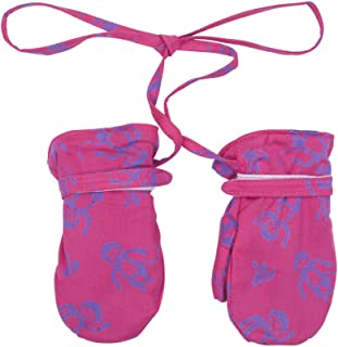 Shu-Shi Baby Toddler Girl Mittens Soft Warm Fleece Interior and String Attached,XX Large (3T-4T),Fuchsia/Purple