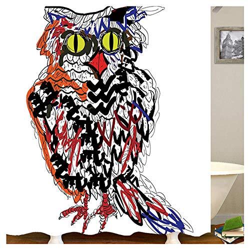 chuanglanja Duschvorhang Wasserdicht Anti-Schimmel Wasserdichter Polyester-Duschvorhang mit Animal-Print vierteiliges Set Kupferschnalle 180 * 180cm weiß