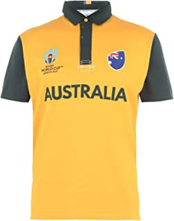 Australia Rugby World Cup 2019 Short Sleeve Jersey Mens Yellow Fan Top Shirt