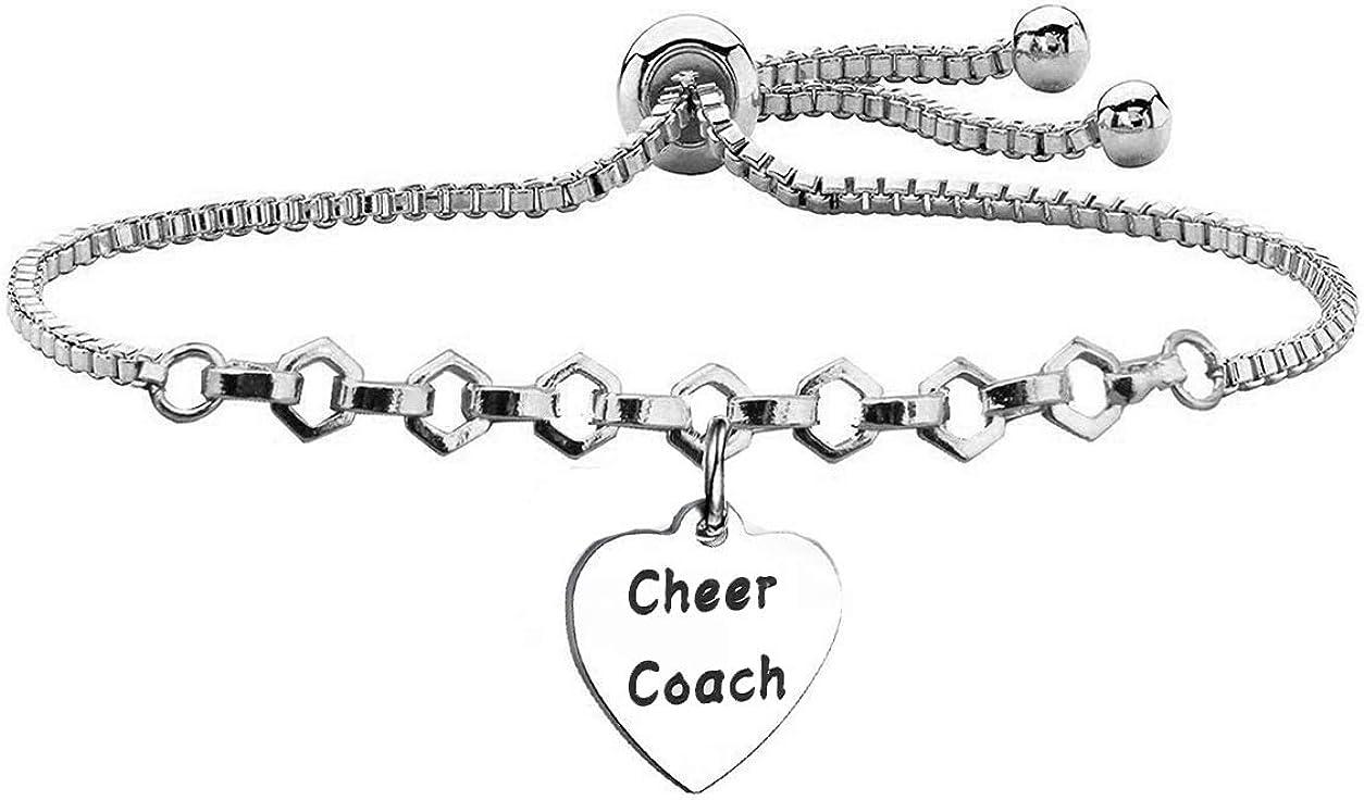 BEKECH Cheer Coach Bracelet Fort Worth Mall A Max 78% OFF Slider Cheerleading