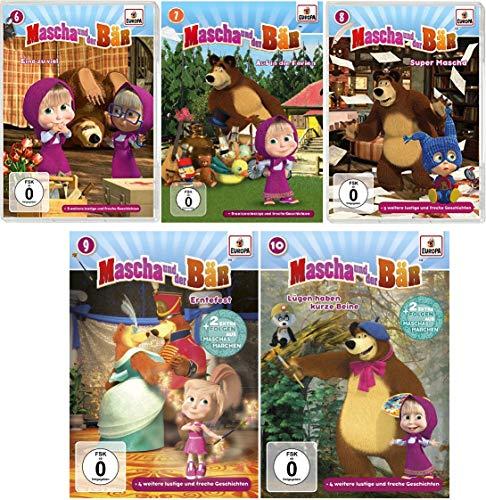 Mascha und der Bär - DVD zur TV-Serie 6 - 10 im Set - Deutsche Originalware [5 DVDs]