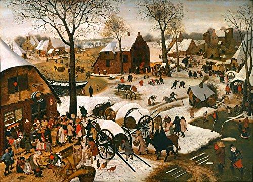 Berkin Arts Pieter Bruegel The Elder Giclee Papel de Arte impresión Obras de Arte Pinturas Reproducción de Carteles(El censo de belén 1)