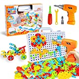 237 Pieces Creative Toy Drill Puzzle Set, STEM Learning Educational Toys, 3D Construction Engineering Building Blocks for Boys and Girls Ages 3 4 5 6 7 8 9 10 Year Old