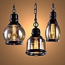 WODQYAZ Hanglamp, Industriële Plafond Opknoping Verlichting Kroonluchter voor Keuken Slaapkamer Woonkamer Bar, BlackD