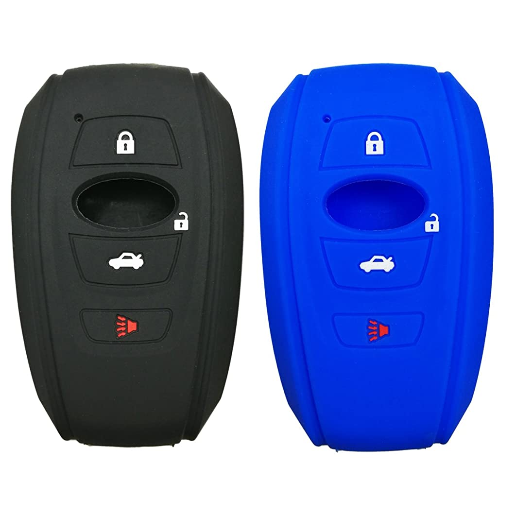 2Pcs Coolbestda 4buttons Key Fob Cover Remote Control Case Keyless Entry Jacket Shell for 2018 2017 Subaru Outback Legacy Forester Sti XV Crosstrek Impreza BRZ WRX