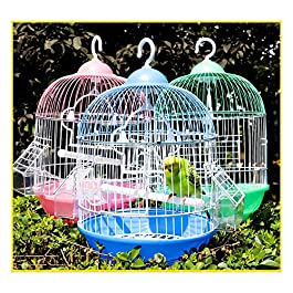 Gali Metal Birdcages Round Birdhouses,Small Bird Cage Breeding Flight Parakeet Bird Cage For Finches Budgies Cockatiels Lovebirds Canaries Parrots
