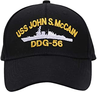 USS John McCain Hat for Men and Women with 100% Cotton Material Black