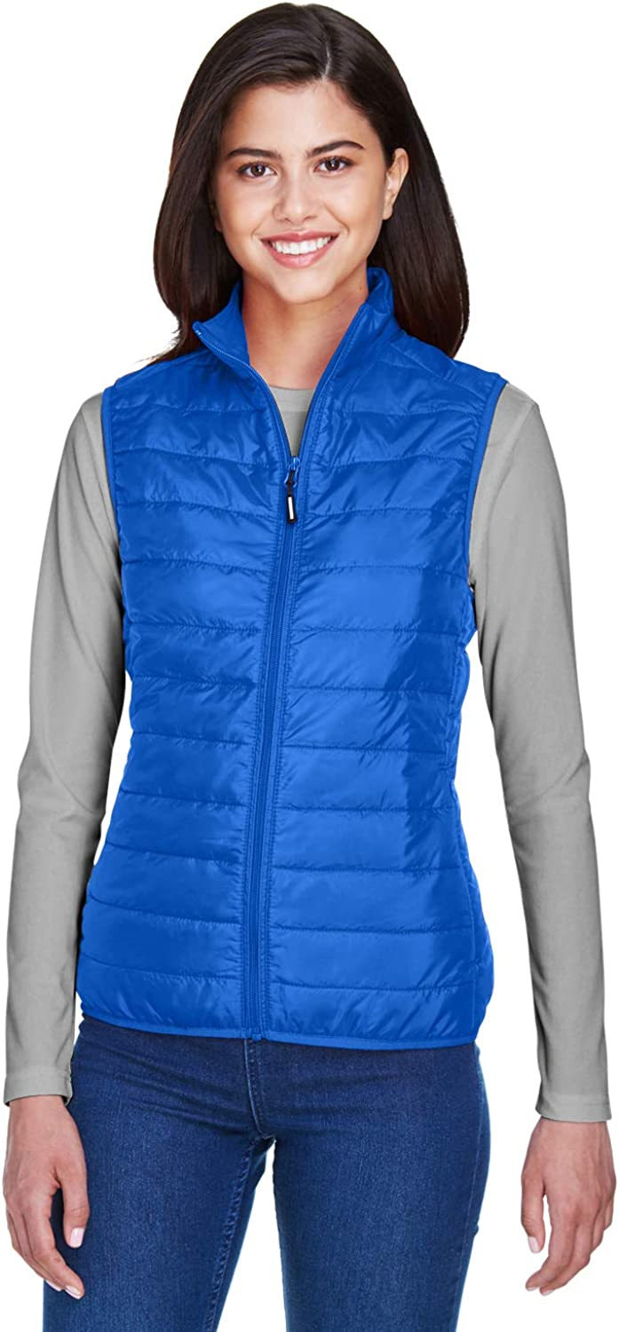Ashe City Womens Prevail Packable Puffer Sleeveless Vest