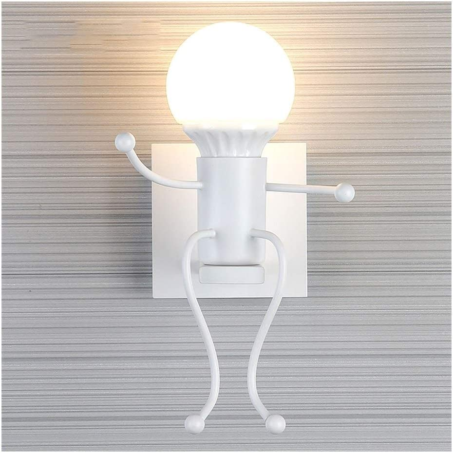 QIFFIY Wall Light Topics on TV E27 Lamp Large discharge sale Creative Modern Iron Hum Wrought