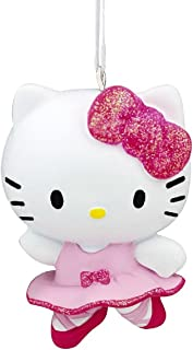 """Details about  /Kurt Adler Hello Kitty with Yellow Gift Christmas Tree Ornament Sanrio 3.5"""" New"""