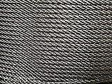 Cable de alambre de acero inoxidable A4 de 10 m, suave, 7 x 7 hilos, acero inoxidable V4A/Aisi 316/A4, calidad de la cuerda 1570 N/mm² (10 m como trazo) (1,0 mm)