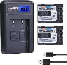 PowerTrust 2 Pack NB-2L NB-2LH 1400 mAh Camera Battery and LCD USB Charegr for Canon 350D 400D G7 G9 S30 S40 z1 Kiss N X Rebel XT XTi