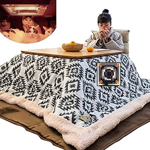 LAZNG Kotatsu Heizung Decke Home Tatami Tisch Winter Indoor Heizung Tisch Japanischer Kotatsu Lesen Schlafen Heizung Tisch Heizung Tisch Set