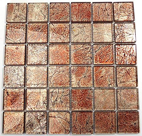 Piastrelle Mosaico tessere di mosaico in vetro lucido Metallic bagno cucina 8mm nuovo # S45