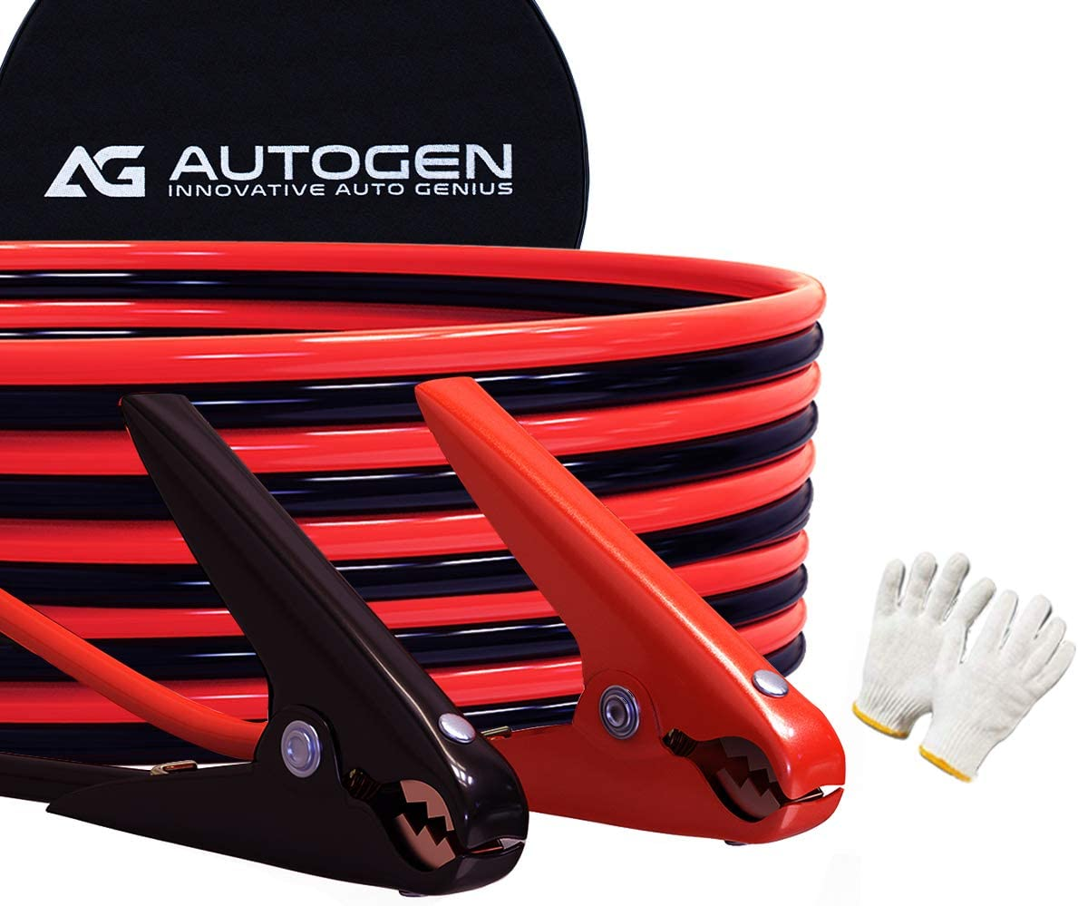 AUTOGEN Jumper Cables 2 Gauge Popular product 25 Booster Feet Now free shipping Duty 800A C Heavy