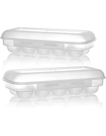 per 12 uovo Scatola di trasporto porta uova in plastica pieghevole blu Kamenda per picnic