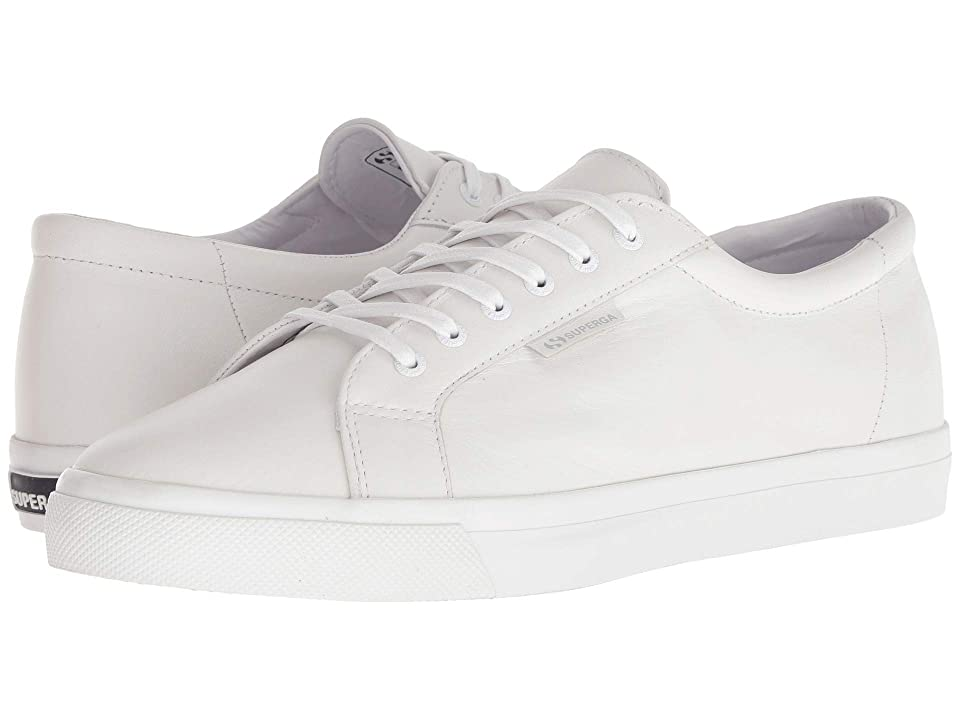 Superga 2804 Nappau (Total White Leather) Men