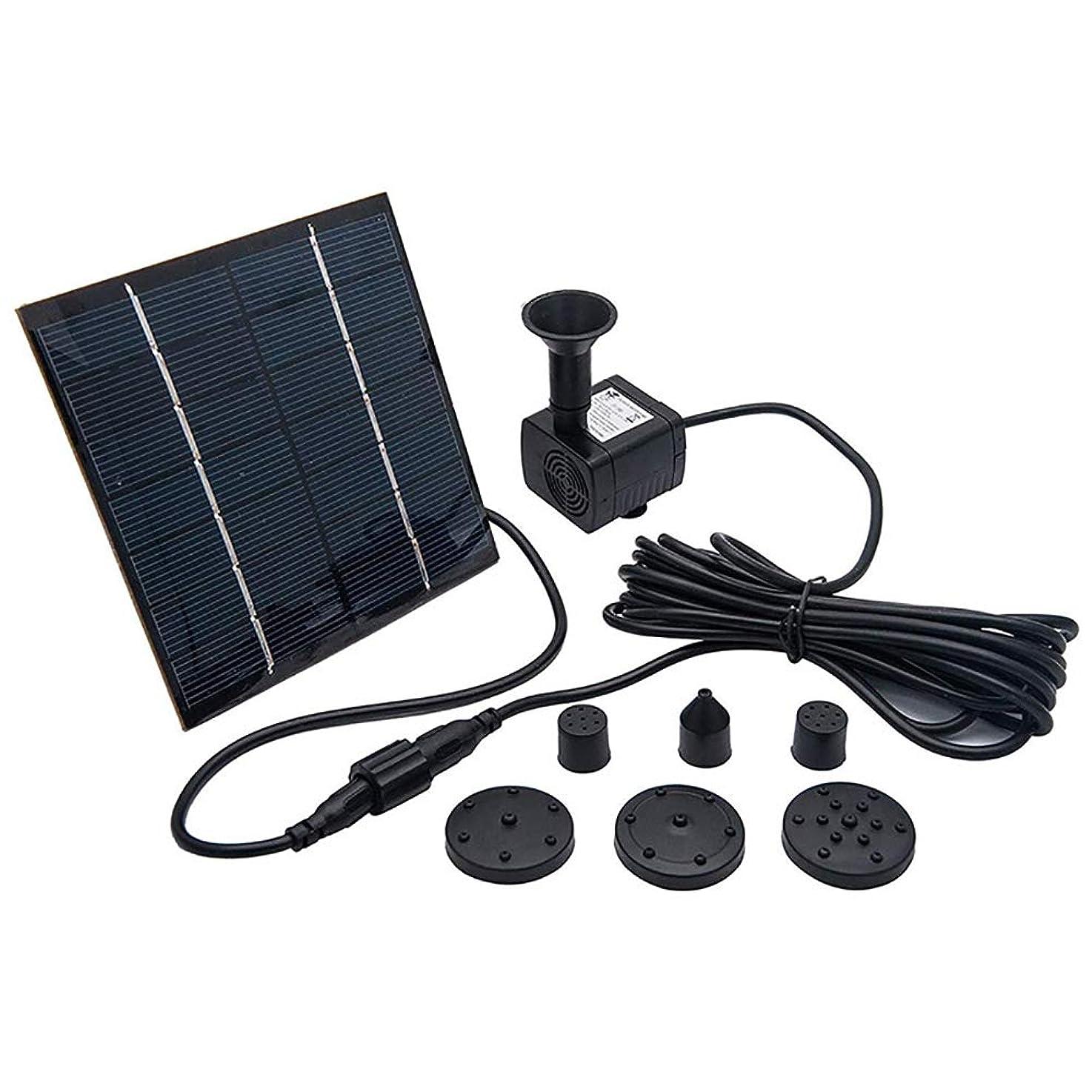 ストライク確認する一時停止鳥の浴室の太陽エネルギーのための7V 1.2Wの太陽水ポンプ、屋外の庭の池の噴水