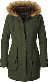 OUTDOOYOWS Womens Winter Warm Coats Parkas with Faux Fur Trimmed Hooded