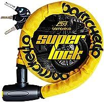 Barrichello(バリチェロ) バイクロック ワイヤーロック バイク 自転車 φ(直径)22mm×1200mm チェーンロック 盗難防止 鍵3本セット 保証付き 選べる2色