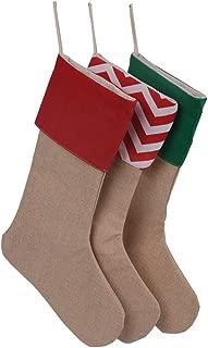 HUAN XUN Set of 3 Pieces Burlap Christmas Stockings Decoration for DIY