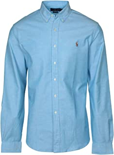 Polo Ralph Lauren Men's Long Sleeve Slim Fit Stretch Oxford Button-down Shirt (XXL, Optic Blue)