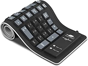 Sungwoo Foldable Silicone Keyboard USB Wired Waterproof Rollup Keyboard for PC Notebook..