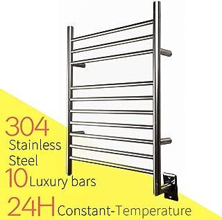 HEATGENE Hot Towel Warmer for Bath Hardwired Heated Drying Rack Brushed Polish