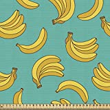 ABAKUHAUS Banane Gewebe als Meterware, Tropic Fruit Vivid,