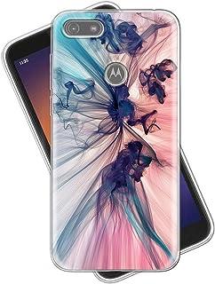Eouine Capa para Motorola Moto E6 Play, capa de celular transparente com estampa ultrafina, à prova de choque, gel macio, ...