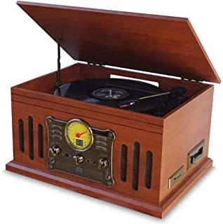 Vitrola Toca Discos de Vinil Stadio e Fita Cassete CD MP3 FM com Conversor Digital Arena Aria Phoenix Ópera Tenor Superbox Uitech